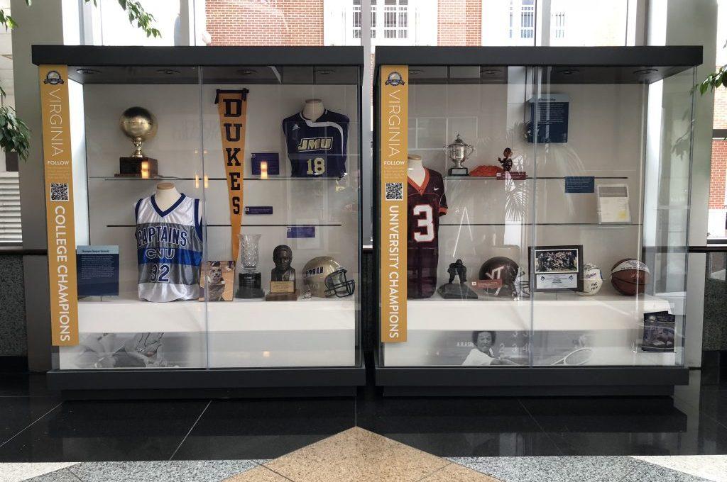 Virginia Sports Hall of Fame exhibit